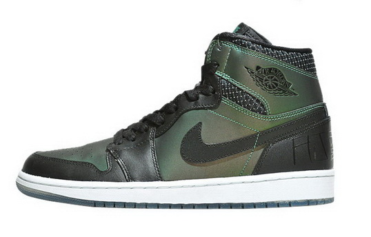 Air Jordan 1 Retro Shoes Green/black